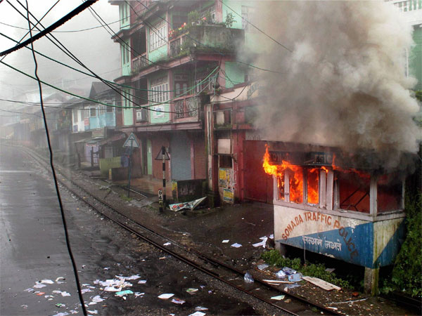 File photo of protests in Darjeeling