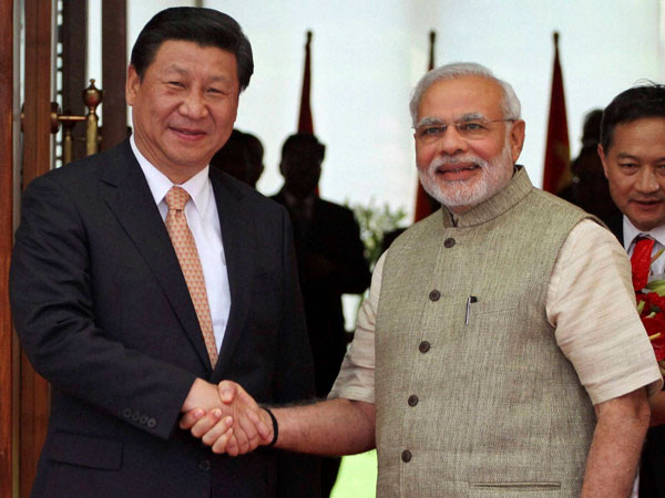 Narendra Modi along with Xi Jinping