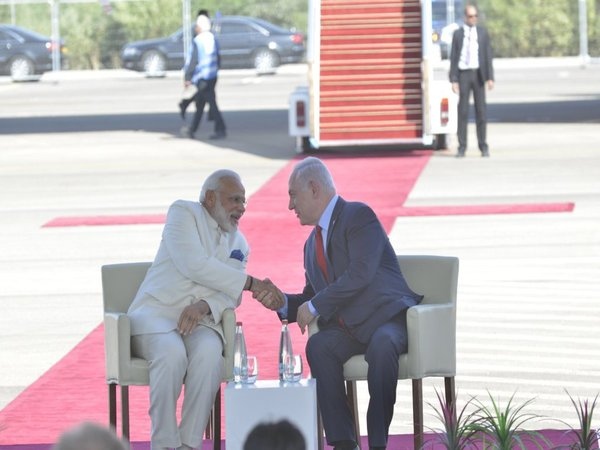 PM Modi and his Israel counterpart Benjamin Netanyahu