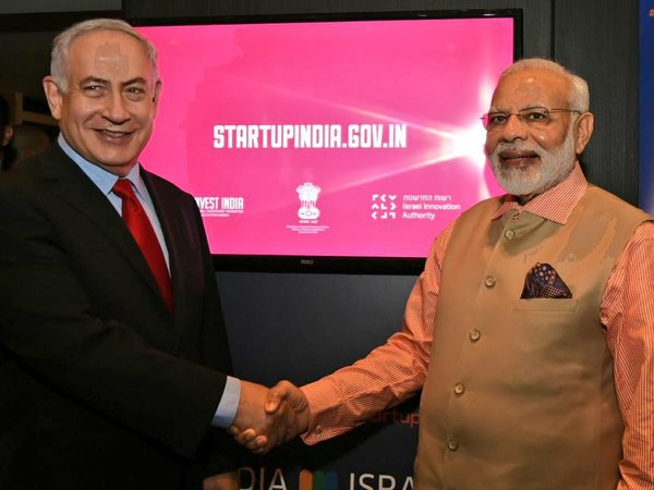 Modi-Netanyahu at the launch of India-Israel Innovation Bridge