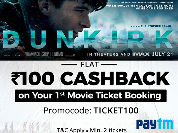 COUPON FRIDAY'S: Get FLAT Rs. 100 Cashback on Movie Tickets* via Paytm, BookMyShow, Now