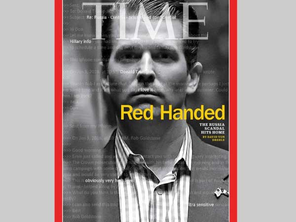 Time magazine latest issue features Trump Jr. on its cover