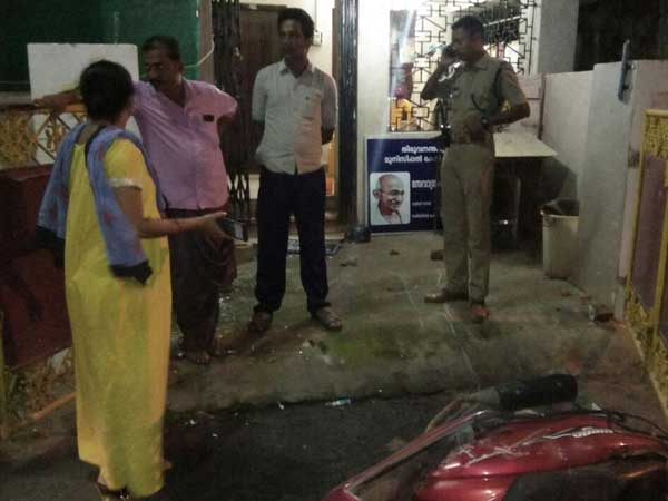 BJP Ker office vandalised; House of CPI-M Secy's son attacked