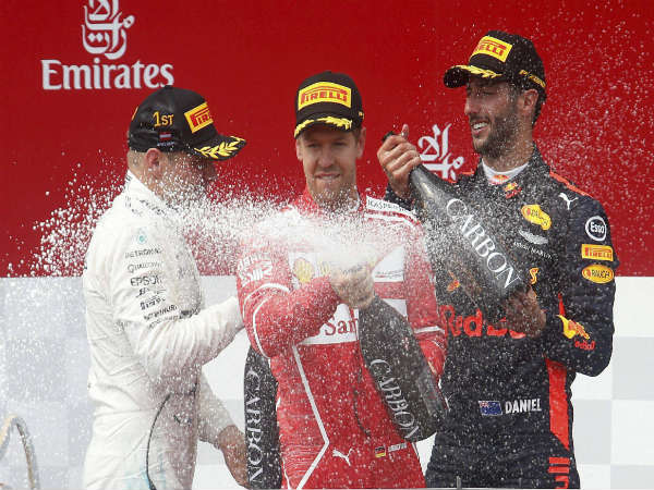Austrian Grand Prix sees Ricciardo take 5th consecutive podium