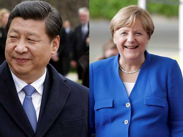 Angela Merkel and Xi Jinping meet to lay foundations for G20 talks