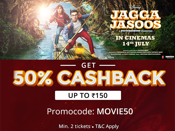 COUPON FRIDAY'S: Get Up To 50% Cashback on Movie Tickets* via Paytm, BookMyShow, Now