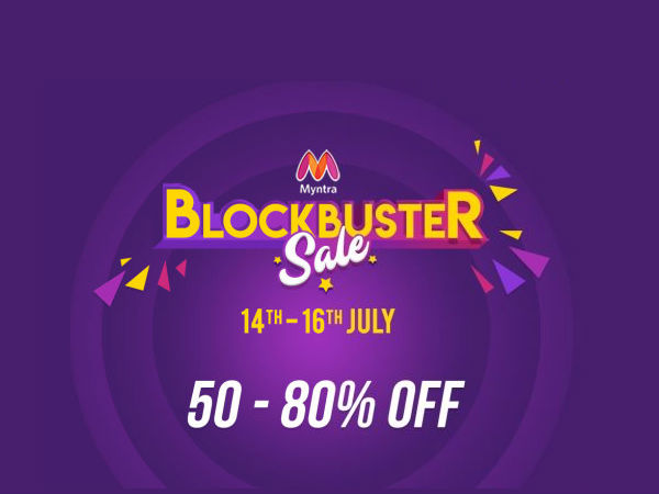 Myntra Blockbuster Sale (14th - 16 July) - Get FLAT 50-80% Off + Extra 10% Off*