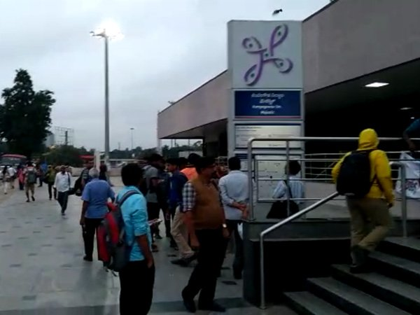 Bengaluru metro services temporarily halted after workers' protest