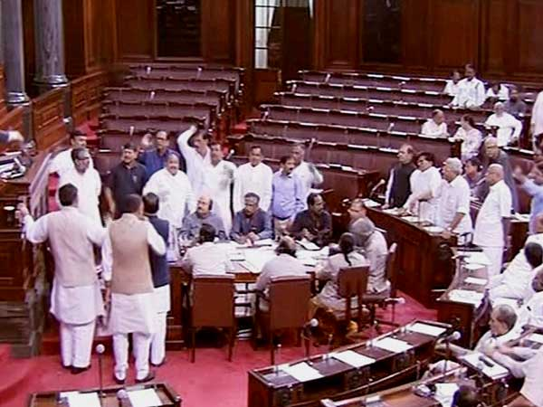 Lok Sabha adjourned till Wednesday amid uproar
