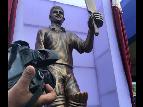Sourav Ganguly unveils own eight-feet high bronze statue in West Bengal