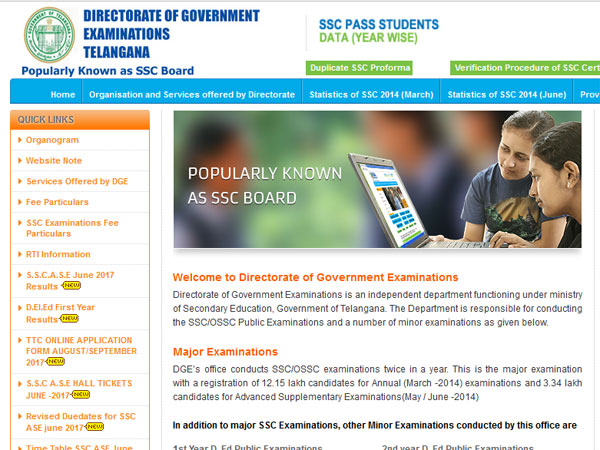 Telangana SSC Supplementary Result 2017 Announced, 59.93% passed