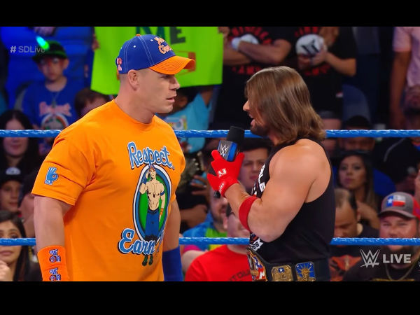 WWE Smackdown: Chris Jericho returns, John Cena confronts Jinder Mahal