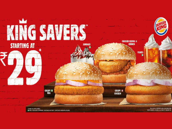 Burger King Weekend Blast! Meals From Rs.179 Onwards*