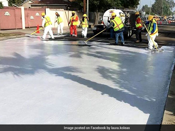 The city streets of Los Angeles, the city is known as the poster boy of heat-island effect, is being coated with a substance known as CoolSeal, a gray coating designed to reflect solar rays, to reduce rising temperatures.
