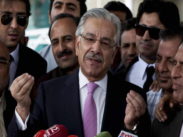 File photo of Pakistan's Foreign Minister Khawaja Asif