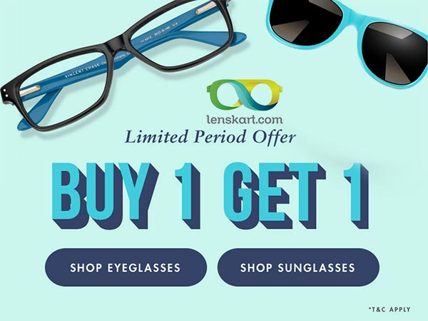 e98d964ab9 Black Thursday Sale  BUY 1 GET 1 FREE at Lenskart  Vincent Chase ...
