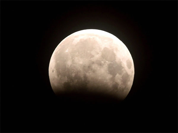 A view of partial lunar eclipse in Chennai. Photo credit: PTI