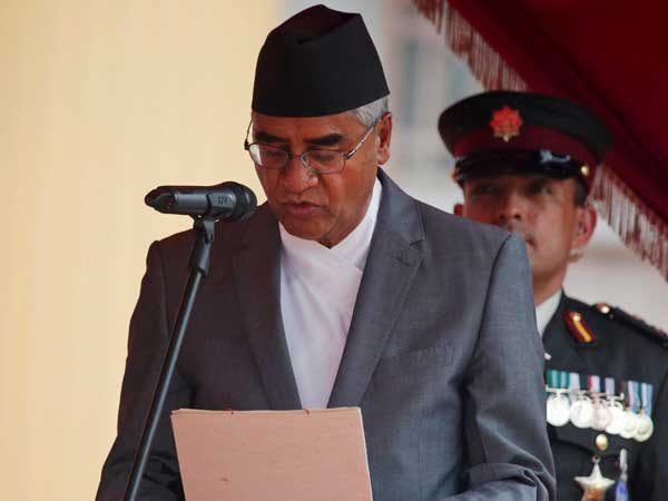 Nepal PM Sher Bahadur Deuba. PTI file photo