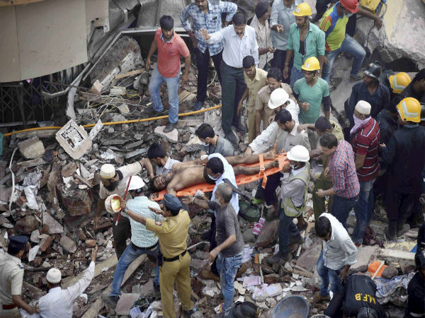 12 dead in Mumbai building collapse