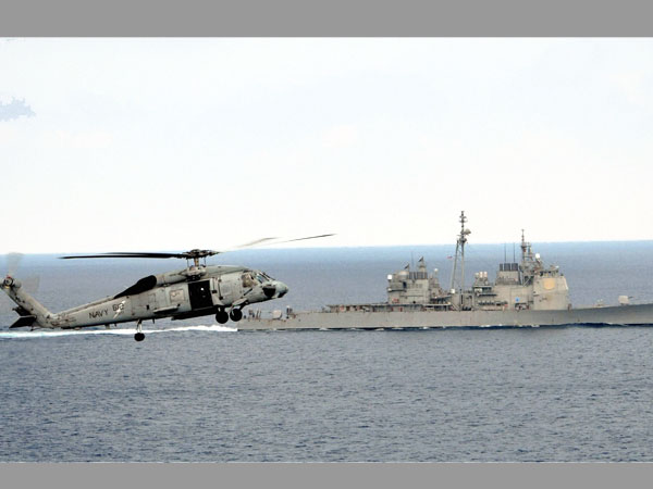 A US Navy helicopter. PTI file photo