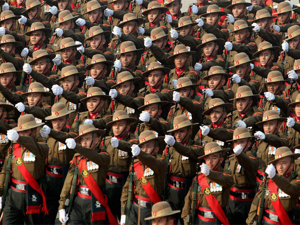 A file photo of Ladakh Scouts march during full dress rehearsal for the Republic Day Parade. Photo credit: PTI