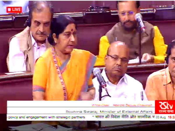 Doklam can be resolved through bilateral talks, says EAM Sushma Swaraj