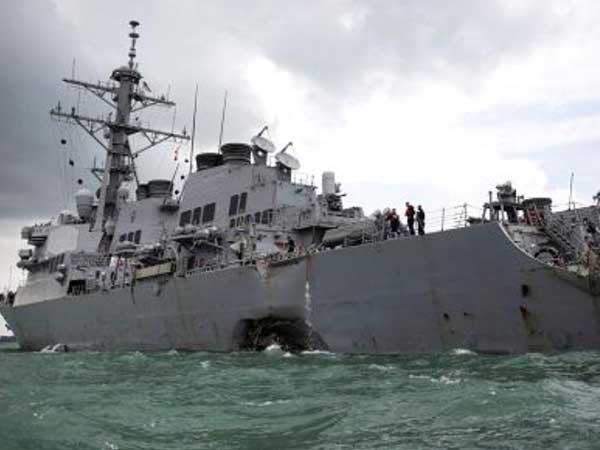 USS John McCain collision: 2 of 10 missing US sailors identified