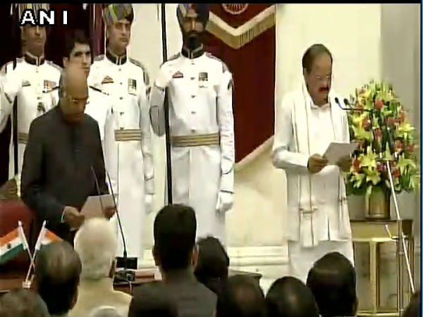 Venkaiah Naidu sworn in as India's 13th Vice President