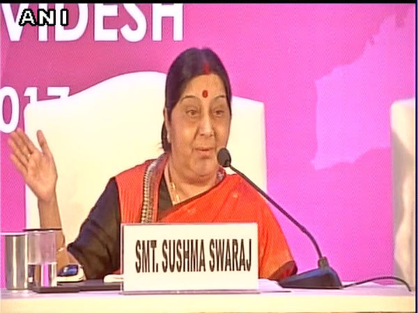 Sushma inaugurates India's first 'Videsh Bhavan' in Mumbai (Lead) (With Images)