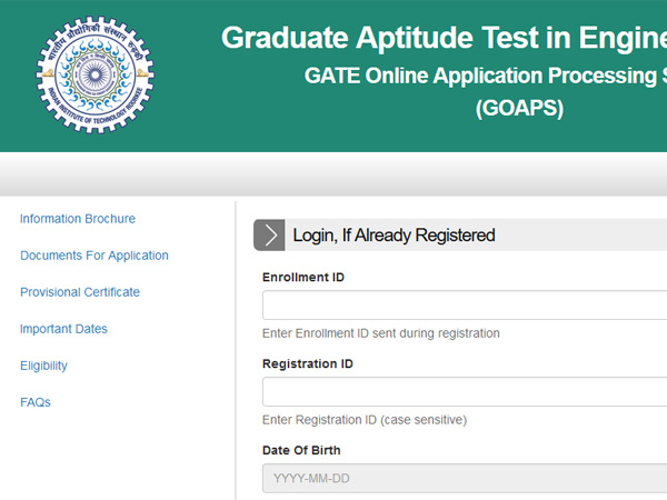 Image result for Application process of GATE 2018 started