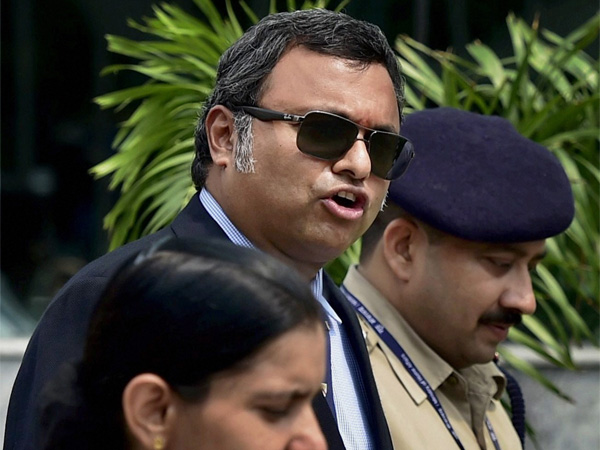 Karti Chidambaram appears before CBI, quizzed for 'over eight hours'