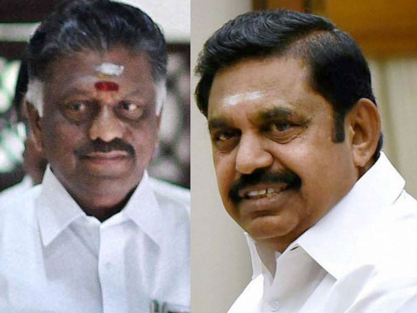 AIADMK factions' merge after 6 months; OPS-EPS seal deal with handshake