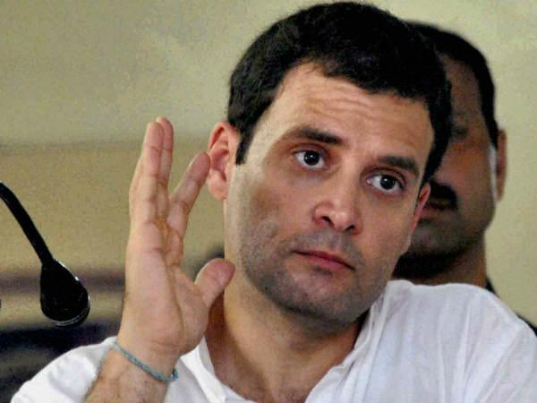 Rahul visits flood-hit district of Assam