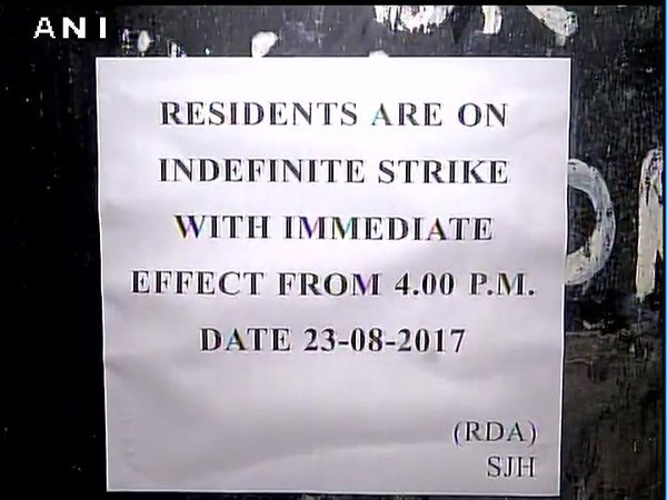 Safdarjung Hospital doctors strike: Resident doctors protest, claim manhandled by patient