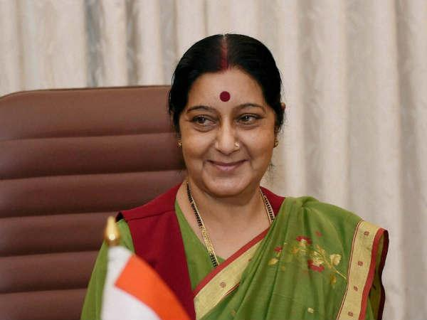 Indian External Affairs Minister arrives