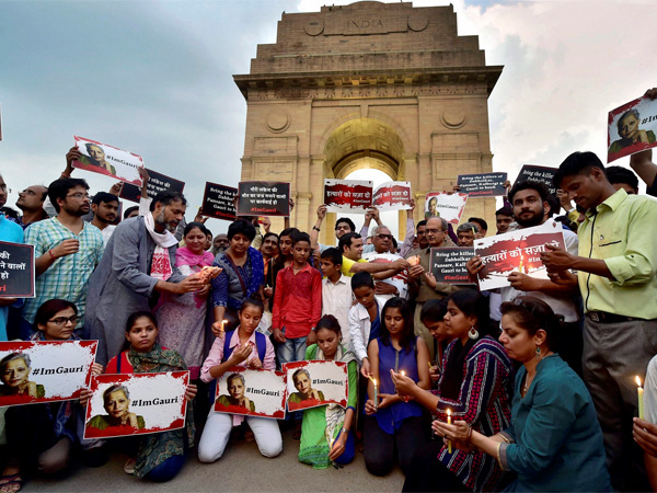 Delhi's India Gate protest
