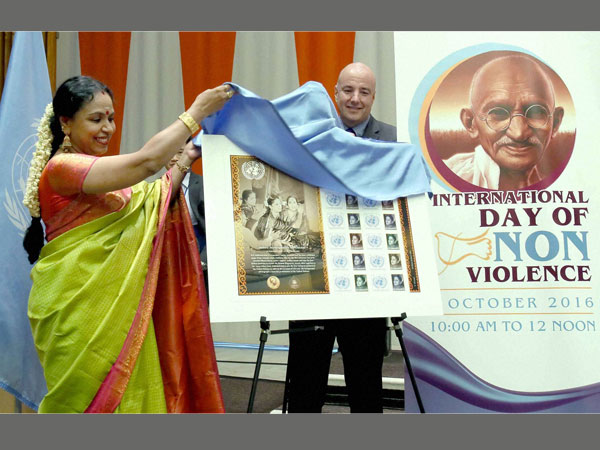 UN postage stamp in honour of Subbulakshmi