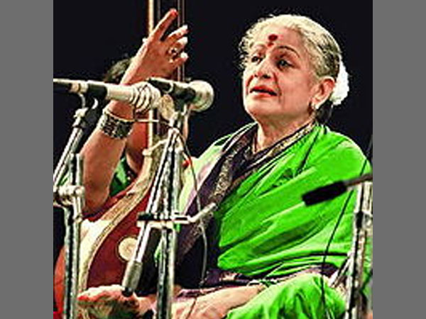Subbulakshmi in her iconic pose
