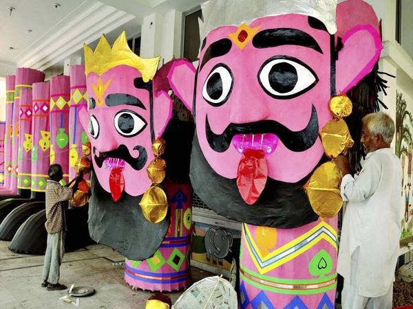 Ravana effigies are burnt in several parts of the country