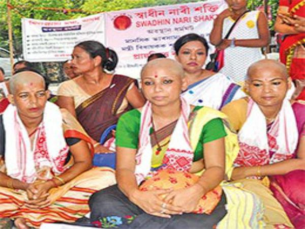 Bald, beautiful' women of Assam tonsure their heads to