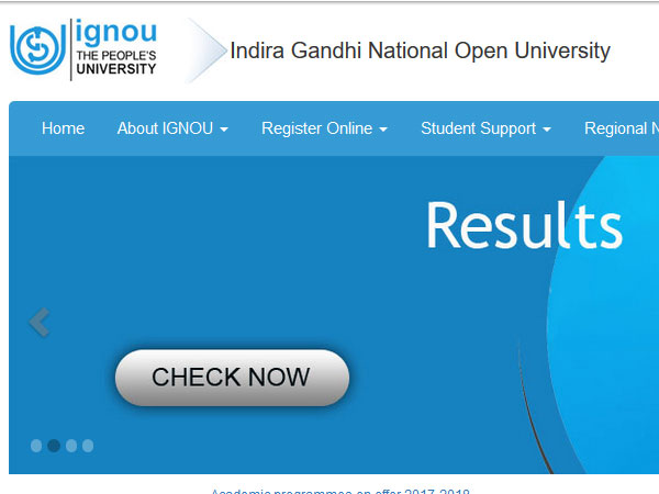 IGNOU December Term End Exam 2017 declared, check now