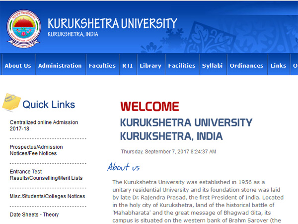 KUK BA BBA Second and B.Com Fourth Semester Results declared
