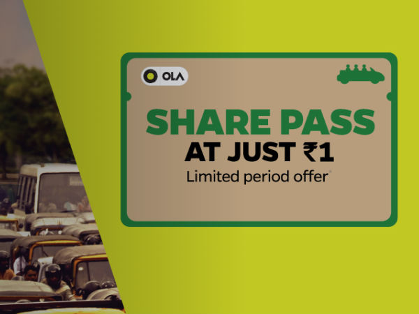 Ola's Car Pooling Awareness! Pick Your Share Pass for Just Re.1* #OneindiaCares