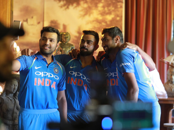 Leaked images from the Team India TVC shot for OPPO