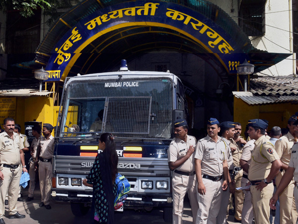 Police force deployed outside the Arthur Road Jail as special TADA court convicted 1993 Mumbai serial blasts accused, in Mumbai