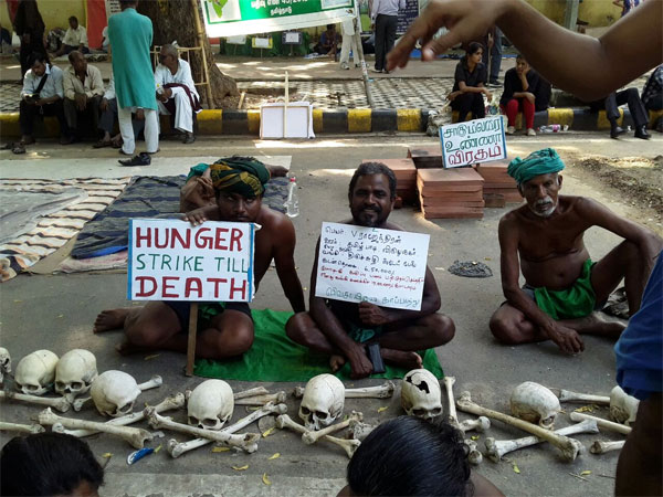 Will the Tamil Nadu farmers get the attention of the Centre?