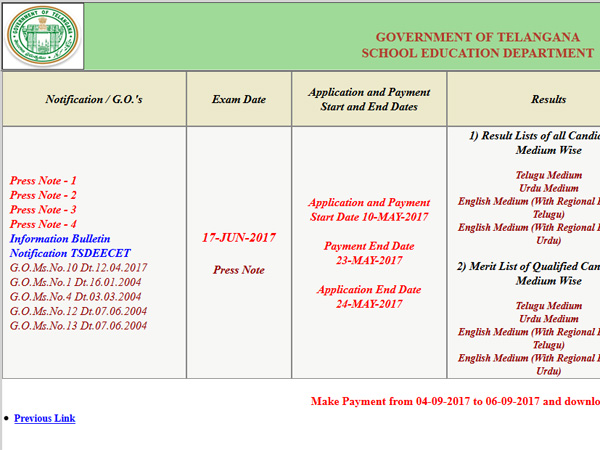 TS DEECET 2017 2nd Phase of Seat Allotment Results declared, how to check