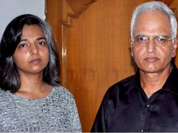 Vernika Kundu along with her father