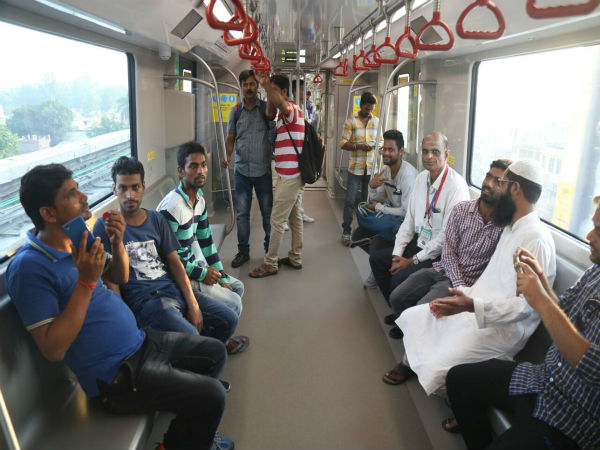AC, Lights Off: Technical Fault in Lucknow Metro near Alambagh
