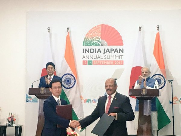 Exchange of agreements between India and Japan